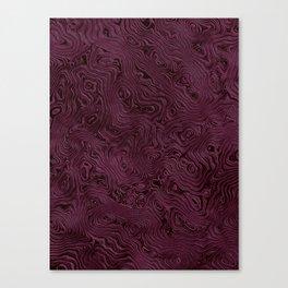 Royal Maroon Silk Moire Pattern Canvas Print