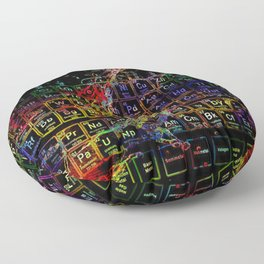 Periodic Table RGB Floor Pillow