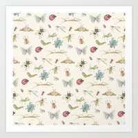 insects Art Prints featuring Insects by Little Holly Berry