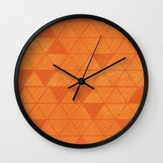 ORANGE TRIANGLES  Wall Clock