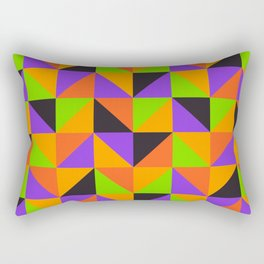 Colorful triangles pattern for Summer or Halloween Rectangular Pillow