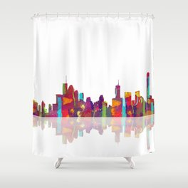 Brisbane Skyline 1 Shower Curtain