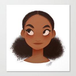 FLUFFY BUNS Dominican Girl Canvas Print