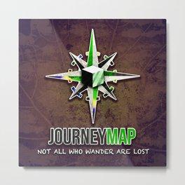Journey Map Metal Print