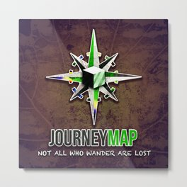 Journey Map Metal Print