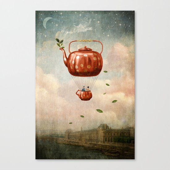 Tea for Two at Dusk Canvas Print