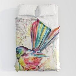 Vibrant Fantail Comforters