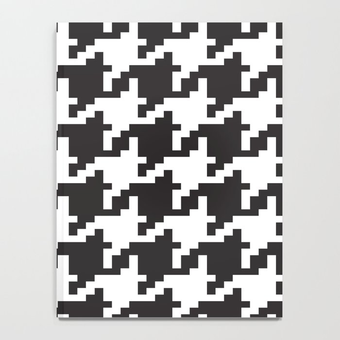 Houndstooth - Black & White Notebook