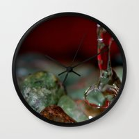 runner Wall Clocks featuring The Runner by C.r. Pieron Photography