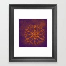 Fire wheel kaleidoscope Framed Art Print