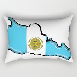 Argentina Map with Argentinian Flag Rectangular Pillow