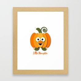 Halloween Little Orange Pumpkin Framed Art Print