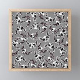 Shynx Half Skull Pattern Framed Mini Art Print