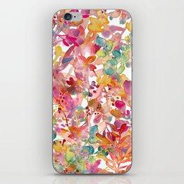 watercolor meadow iPhone Skin