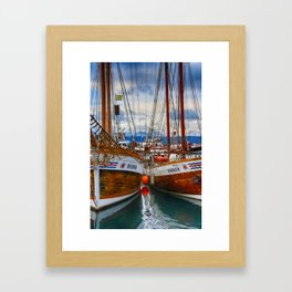 Schooners Hildur and Hauker Framed Art Print