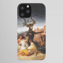 Francisco de Goya - Witches Sabbath (El Aquelarre) 1798 Artwork for Wall Art, Prints, Posters, Tshir iPhone Case