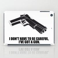 gun iPad Cases featuring gun by muffa