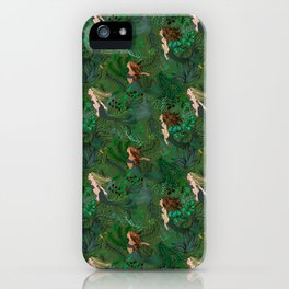 Mermaids in an Underwater Garden iPhone Case