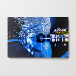 Montreal Biophere Night Edition Metal Print