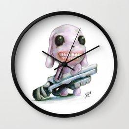 Little Dog..Big Gun | Illustration Painting Wall Clock