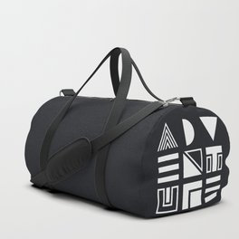 Adventure Shapes B&W Duffle Bag