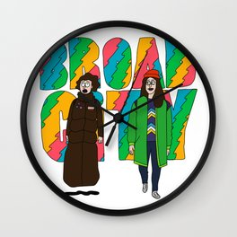 Broad City - Mushrooms Wall Clock