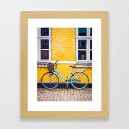 Bike and yellow Framed Art Print