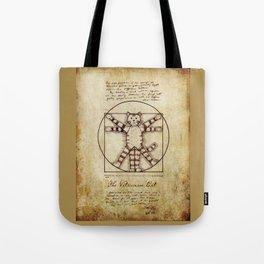 Vitruvian Cat Tote Bag