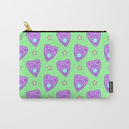 Planchette Pattern on Green Carry-All Pouch