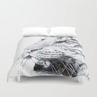 tiger Duvet Covers featuring Tiger by Kirsten Neil