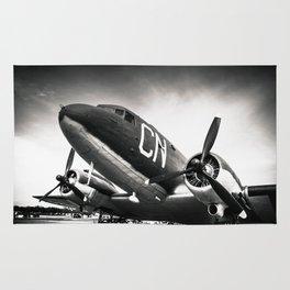 C-47D Skytrain Black and White Rug