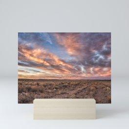 Land of Sagebrush and Wild Horses Mini Art Print