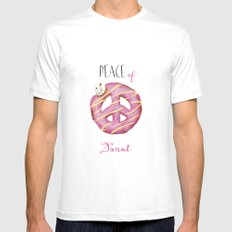Peace of donut White Mens Fitted Tee SMALL