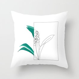Spting Lilies Throw Pillow