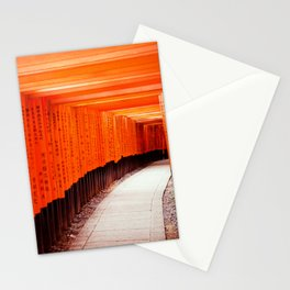 Red Torii Gates in Kyoto Japan Stationery Cards