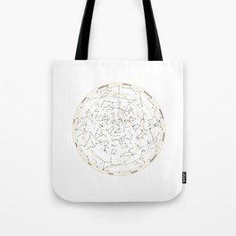 Star Chart of the Northern Hemisphere White Tote Bag