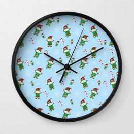 Xmas Elves Wall Clock