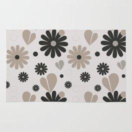 Wintery flowers Rug