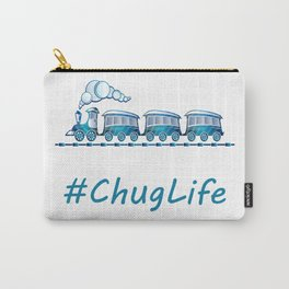 #ChugLife Blue Train Carry-All Pouch