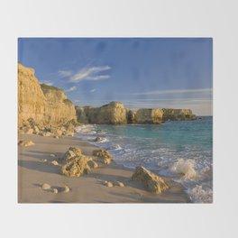 Algarve cove Throw Blanket