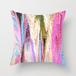 Pink Abstract Enlightenment Throw Pillow