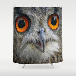 Owl Close up Shower Curtain