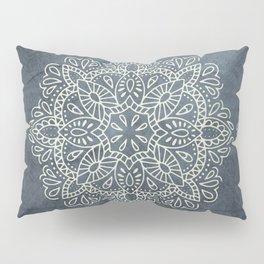 Mandala Vintage Ivory Blue Pillow Sham