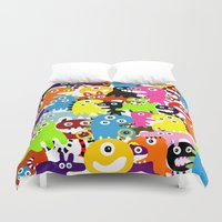 aliens Duvet Covers featuring ALIENS  by d.ts