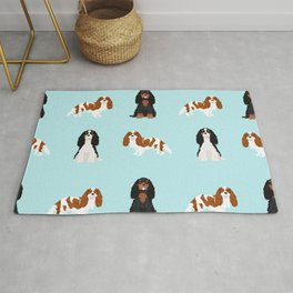 Cavalier King Charles Spaniel mixed coats dog breed must have cavalier spaniels gifts Rug