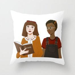 Matilda & Lavender Throw Pillow