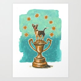 Dog Trophy 1 Art Print