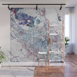 San Jose Map Wall Mural