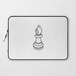 Bishop Chess Piece Line Drawing Laptop Sleeve