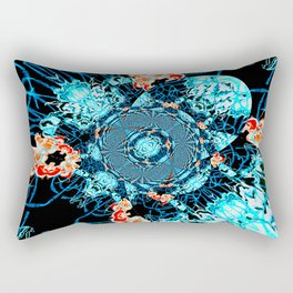 HypnoSpace- Tangent Blue & Orange Rectangular Pillow